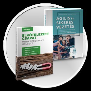 Elkötelezett csapat + Agilis vezetés Könyvcsomag